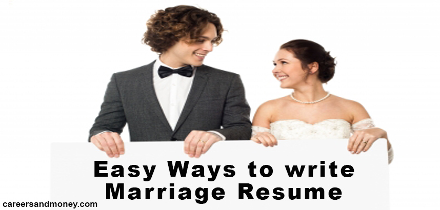 Importance Of Writing A Good Marriage Resume