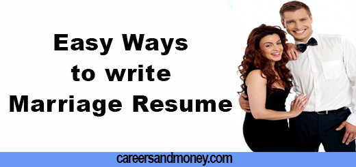 Easy Ways to write Marriage Resume
