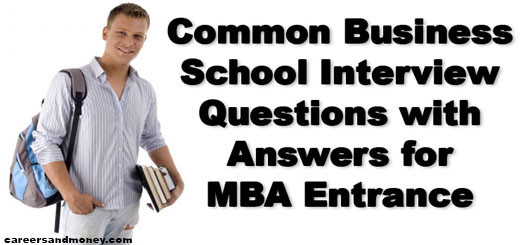 Business School Interview Questions for MBA Entrance