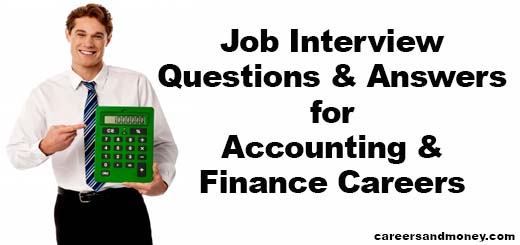job interview questions and answers for accounting and finance careers careersandmoneycom