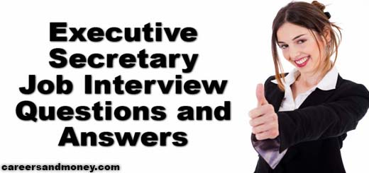 Executive Secretary Job Interview Questions and Answers